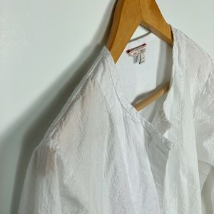 GAP white shirt dress w/drawstring size M